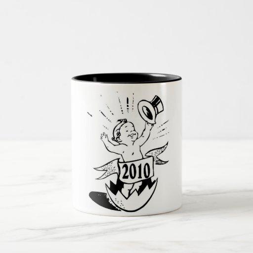 Bebé 2010 del Año Nuevo Taza De Café