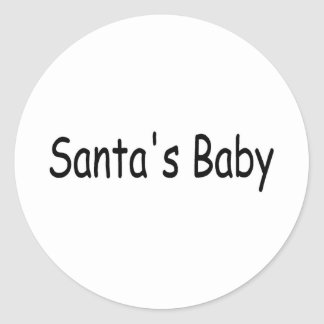 Bebé 2 de Santas Etiqueta Redonda