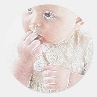 Bebé 3 de YouMa Pegatina Redonda