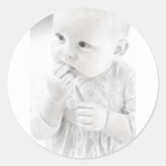 Bebé 6 de YouMa Pegatina Redonda