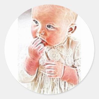 Bebé 7 de YouMa Pegatina Redonda