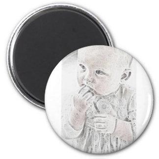 Bebé 8 de YouMa Imán Redondo 5 Cm