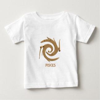 Bebé abstracto del zodiaco de Piscis Playera