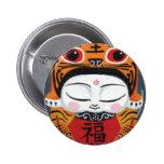 Bebé afortunado del tigre botones