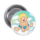 Bebé alegre: Botón del ángel Pin