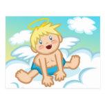 Bebé alegre: Postal del ángel