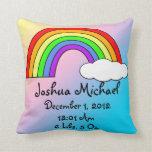 Bebé - almohada del recuerdo del arco iris