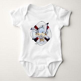 Bebé altísimo de las gaviotas body para bebé