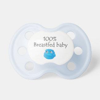 Bebé amamantado el 100% chupetes