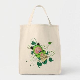 Bebé ambiental de la rana verde bolsa