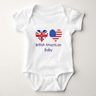 Bebé americano británico body para bebé