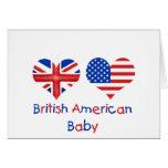 Bebé americano británico felicitacion