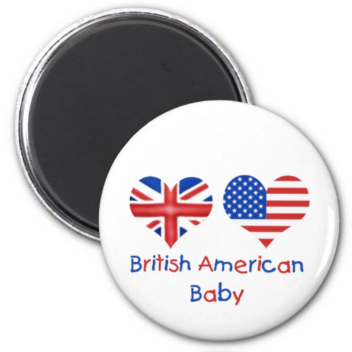 Bebé americano británico imán redondo 5 cm