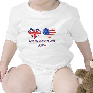 Bebé americano británico traje de bebé