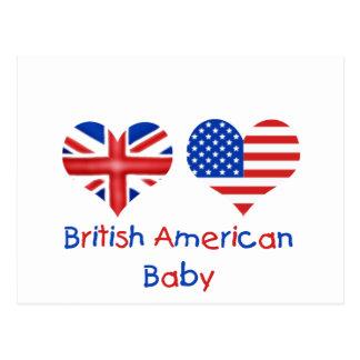 Bebé americano británico postal