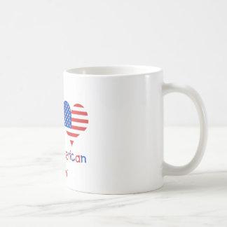 Bebé americano británico taza básica blanca