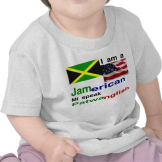 bebé americano jamaicano camisetas