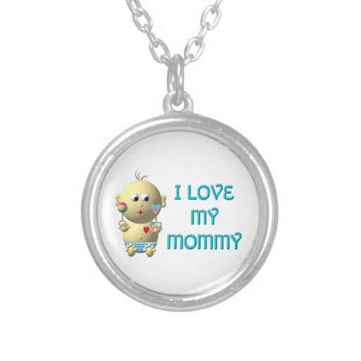 Bebé: Amo mi collar de la mamá