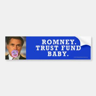 Bebé Anti-Romney de la fondo fiduciaria del pegati Etiqueta De Parachoque