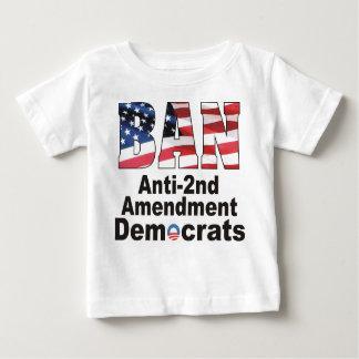 Bebé anti T de Demócratas de la enmienda de la Playera De Bebé