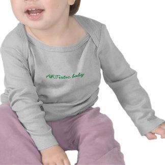 Bebé artístico camisetas