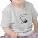 Bebé australiano camisetas