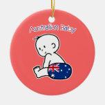 Bebé australiano ornamento para arbol de navidad