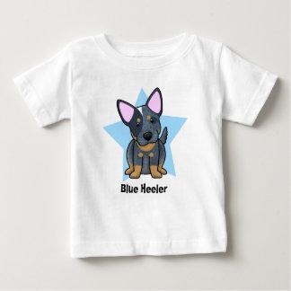 Bebé azul de Heeler de la estrella de Kawaii Playeras