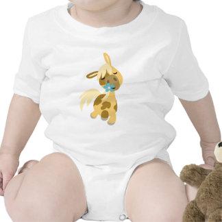 Bebé azul de la flor y del potro camiseta