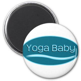 Bebé azul de la yoga imán redondo 5 cm