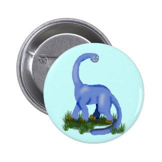 bebé azul del apatosaurus pin redondo de 2 pulgadas
