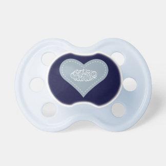 Bebé azul del bismillah del Islam del corazón islá Chupetes Para Bebes