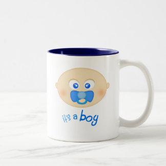 """Bebé azul del pacificador """"es taza de un muchacho"""""""