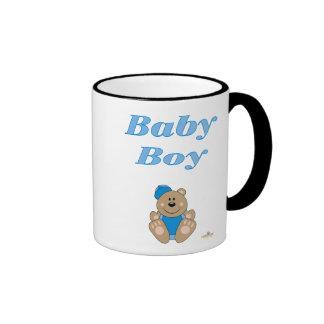 Bebé azul lindo de la gorra de béisbol del oso de  taza de café