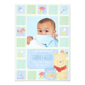 Bebé bah y invitación del nacimiento de Hunny