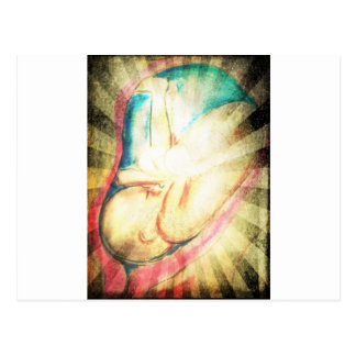 Bebé bendecido tarjeta postal