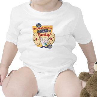 Bebé. Bendijo los refrigerios. camisa