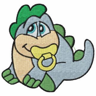 Bebé bordado lindo Dino con el pacificador