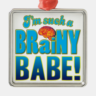 Bebé Brain.pdf inteligente Adorno Cuadrado Plateado