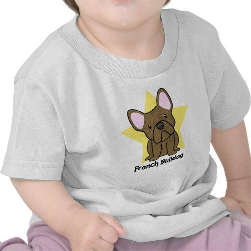 Bebé Brindle del dogo francés de la estrella de Camisetas