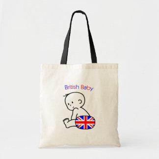 Bebé británico bolsa lienzo