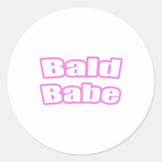 Bebé calvo (rosa) etiqueta