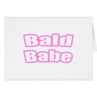 Bebé calvo (rosa) felicitacion