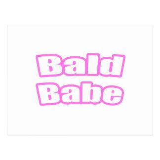 Bebé calvo (rosa) postales