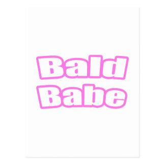 Bebé calvo (rosa) tarjetas postales