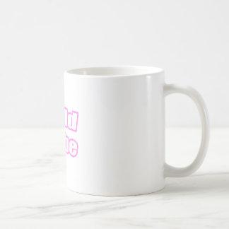 Bebé calvo (rosa) taza de café