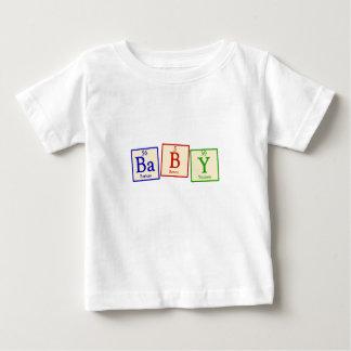 Bebé - camiseta del niño del friki de la química playeras