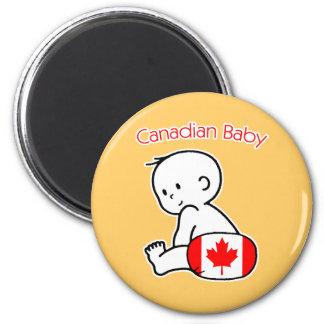 Bebé canadiense imanes para frigoríficos