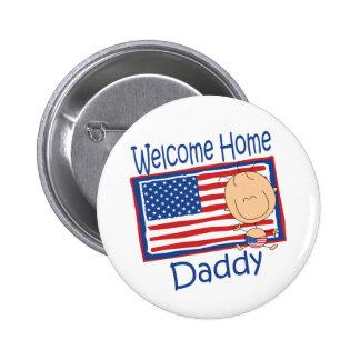 Bebé casero agradable de la bandera del papá pin redondo de 2 pulgadas