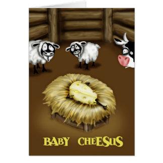 Bebé Cheesus Tarjeta De Felicitación